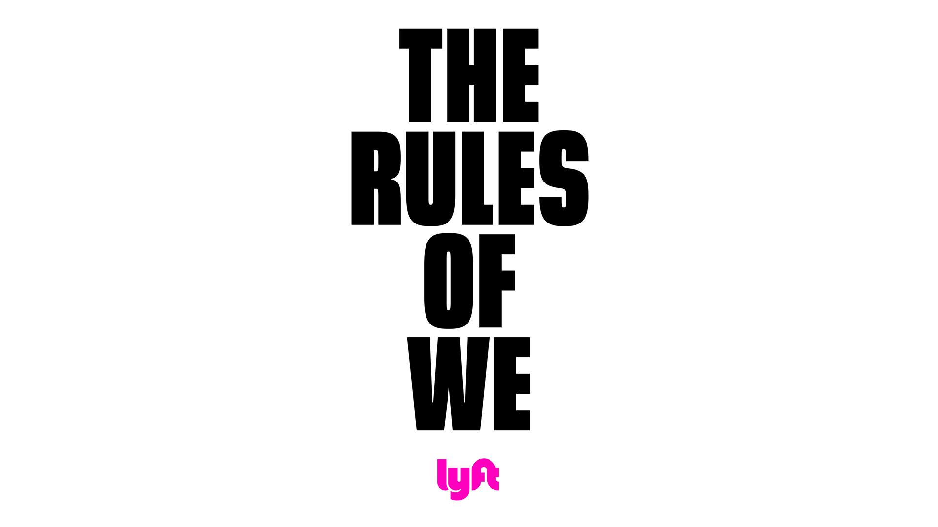 Rules of We